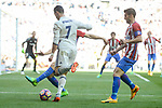 Real Madrid's Cristiano Ronaldo and Atletico de Madrid's Juanfran Torres during La Liga match between Real Madrid and Atletico de Madrid at Santiago Bernabeu Stadium in Madrid, April 08, 2017. Spain.<br /> (ALTERPHOTOS/BorjaB.Hojas)