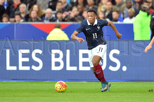 13.11.2015. Stade de France, Paris, France. International football friendly. France versus Germany.  ANTHONY MARTIAL . The game was parially interupted as the paris terror attacks took place and bombs were heard going off outside the stadium.