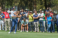 Dustin Johnson (USA) hits his approach shot on 10 during round 1 of the World Golf Championships, Mexico, Club De Golf Chapultepec, Mexico City, Mexico. 3/1/2018.<br /> Picture: Golffile | Ken Murray<br /> <br /> <br /> All photo usage must carry mandatory copyright credit (&copy; Golffile | Ken Murray)