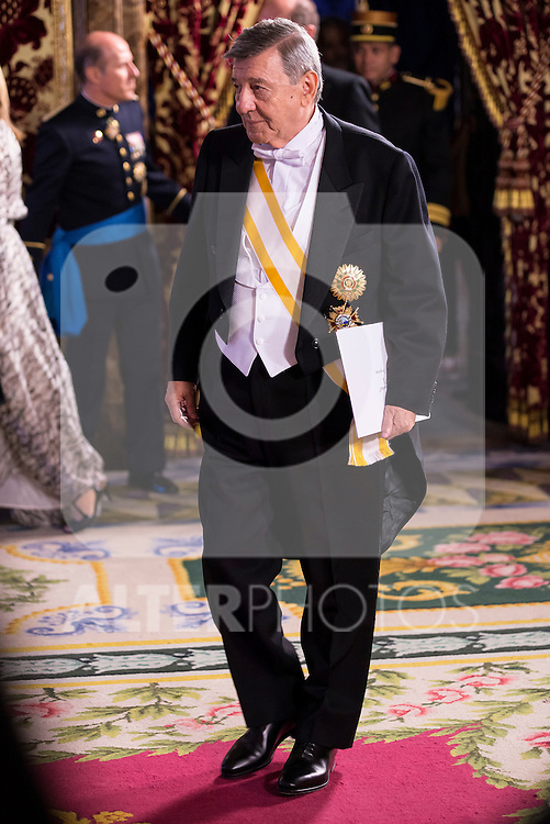 Ambassador of Perú SR. Rafael Roncagliolo Orbegoso present his credentials to King Felipe VI of Spain during royal audiences at Zarzuela Palace in Madrid, July 27, 2015. <br /> (ALTERPHOTOS/BorjaB.Hojas)
