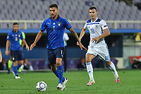 Lorenzo Pellegrini of Italy and Amer Gojak of Bosnia during the Uefa Nation League Group Stage A1 football match between Italy and Bosnia at Artemio Franchi Stadium in Firenze (Italy), September, 4, 2020. Photo Massimo Insabato / Insidefoto