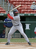 May 3, 2004:  Carlos Febles of the Pawtucket Red Sox, Triple-A International League affiliate of the Boston Red Sox, during a game at Dunn Tire Park in Buffalo, NY.  Photo by:  Mike Janes/Four Seam Images