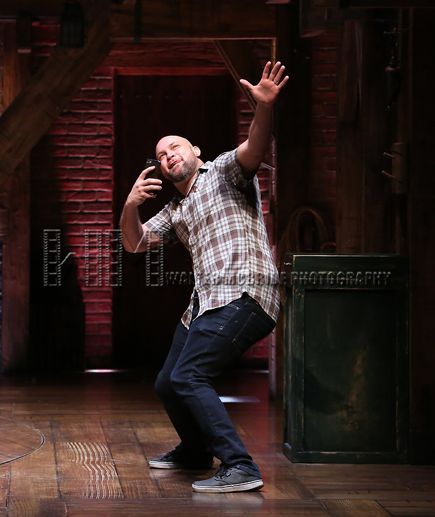 """Gregory Treco from the 'Hamilton' cast during a Q & A before The Rockefeller Foundation and The Gilder Lehrman Institute of American History sponsored High School student #EduHam matinee performance of """"Hamilton"""" at the Richard Rodgers Theatre on May 24, 2017 in New York City."""