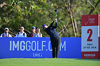 PATTAYA, THAILAND - FEBRUARY 22: Amy Yang USA on the 2nd tee during the second round of the Honda LPGA Thailand 2019 at Siam Country Club Pattaya (Old Course), Pattaya, Thailand on February 22, 2019.<br /> .<br /> .<br /> .<br /> (Photo by: Naratip Golf Srisupab/SEALs Sports Images)<br /> .<br /> Any image use must include a mandatory credit line adjacent to the content which should read: Naratip Golf Srisupab/SEALs Sports Images