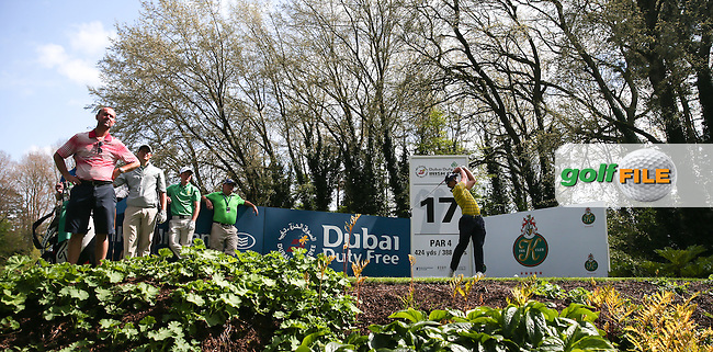 Paul Dunne (IRL) from the 17th tee during Monday's practice round ahead of the 2016 Dubai Duty Free Irish Open Hosted by The Rory Foundation which is played at the K Club Golf Resort, Straffan, Co. Kildare, Ireland. 16/05/2016. Picture Golffile | David Lloyd.<br /> <br /> All photo usage must display a mandatory copyright credit as: &copy; Golffile | David Lloyd.