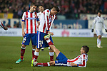 Atletico de Madrid's Jose Maria Gimenez and Lucas during 2014-15 Spanish King Cup match at Vicente Calderon stadium in Madrid, Spain. January 07, 2015. (ALTERPHOTOS/Luis Fernandez)