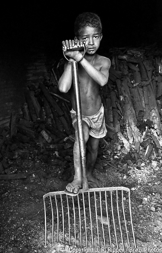 Child labor in charcoal production, Brazil. Several pig-iron smelters have been set up in the country to process iron for export, mainly to the European Community. These rely on charcoal production, specially from native woods, to fuel them.