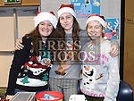 Carley Gallagher, Alex O'Callaghan and Megan Semple at the Boyne RFC Christmas Fair in the Grammar School. Photo:Colin Bell/pressphotos.ie