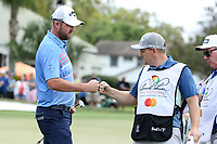 Marc Leishman (AUS) and caddy Matthew Kelly during the final round of the Arnold Palmer Invitational presented by Mastercard, Bay Hill, Orlando, Florida, USA. 08/03/2020.<br /> Picture: Golffile | Scott Halleran<br /> <br /> <br /> All photo usage must carry mandatory copyright credit (© Golffile | Scott Halleran)