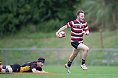 Counties Manukau Under 85kg vs Waikato Under 85kg rugby game played at Navigation Homes Stadium, Pukekohe, on Saturday September 14th 2019.<br /> Counties Manukau won the game 25 - 10 after leading 10 - 3 at halftime.<br /> Photo by Richard Spranger.