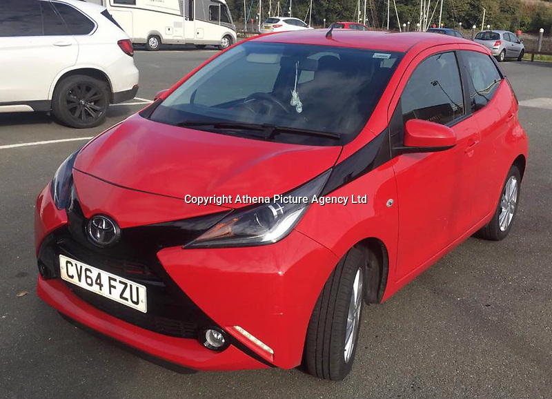 "Monday 05 June 2017<br /> Pictured: Emma Fairbairn's Red Toyota <br /> Re: A Fundraising campaign has been started for a young mum facing every parent's' worst nightmare after her unborn baby died following a car crash.Jasmine Mcginley has set up a GoFundMe for Emma Fairbairn's baby Flynn who was ""born sleeping"" on May 28.Emma had been involved in a car accident near Steynton on May 25 which led to Flynn's early arrival, weighing just 1lbs 6oz.<br /> In the appeal for help with funeral costs Jasmine said: ""After having a lovely pregnancy, on the 25th of May sadly Emma through no fault of her own was involved in a horrible car accident."