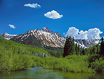 Dallas Creek and Mount Sneffels, Ridgeway, Colorado. John guides custom photo tours in the Sneffels Range and throughout Colorado.