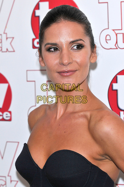 AMANDA BYRON .attending the TV Quick & TV Choice Awards held at The Dorchester hotel,  in London, England, September 7th 2009..arrivals portrait headshot strapless black.CAP/PL.©Phil Loftus/Capital Pictures
