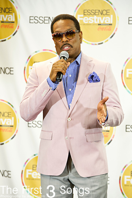 Charlie Wilson speaks to the media at the 2013 Essence Festival at the Mercedes-Benz Superdome in New Orleans, Louisiana.