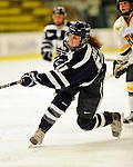 11 February 2011: University of New Hampshire Wildcat forward Kristine Horn, a Sophomore from Utica, MI, in action against the University of Vermont Catamounts at Gutterson Fieldhouse in Burlington, Vermont. The Lady Catamounts defeated the visiting Lady Wildcats 4-2 in Hockey East play. Mandatory Credit: Ed Wolfstein Photo