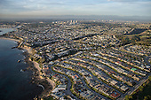 aerial stock photo of Newport Beach California