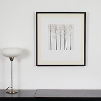 "Preston: Winter Trees, Digital Print, Image Dims. 13"" x 13"", Framed Dims. 27.5"" x 25.25"""