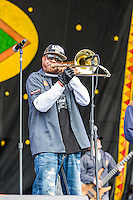 The Corey Henry.& Treme.Funktet perform at the 2013 Jazz and Heritage Festival in New Orleans, LA on May 3, 2013.  © HIGH ISO Music, LLC / Retna, Ltd.