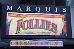 Theatre Marquee.at the Broadway Opening Night Performance of 'Follies' at the Marquis Theatre in New York City.
