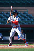 Surprise Saguaros first baseman Andrew Knizner (96), of the St. Louis Cardinals organization, at bat during an Arizona Fall League game against the Scottsdale Scorpions on October 27, 2017 at Scottsdale Stadium in Scottsdale, Arizona. The Scorpions defeated the Saguaros 6-5. (Zachary Lucy/Four Seam Images)
