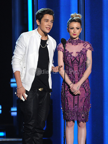 LAS VEGAS, NV - MAY 18: 5 Austin Mahone and Cher Lloyd appear on the 2014 Billboard Music Awards at the MGM Grand Garden Arena on Sunday, May 18, 2014 in Las Vegas, Nevada. PgMicelotta/MediaPunch