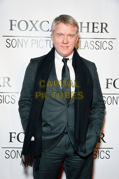 PHILADELPHIA, PA - NOVEMBER 3, 2014 :  A special red carpet premiere screening of FOXCATCHER with Director Bennett Miller, actor Anthony Michael Hall and Nancy Schultz, widow of Olympic Champion Dave Schultz pictured at The Prince Theater in Philadelphia, Pa on November 3, 2014   <br /> CAP/MPI/STA<br /> &copy;Star Shooter/MediaPunch/Capital Pictures