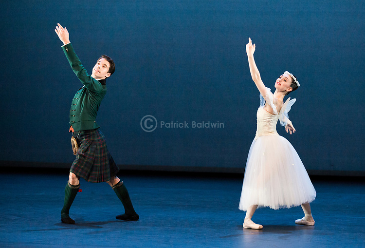 English National Ballet. Emerging Dancer competition. Madison Keesler and Guilherme Menezes. La Sylphide pas de deux<br /> Choreography: August Bournonville<br /> Music Herman L&oslash;venskoid<br /> Mentored by: Barry Drummond and Senri Kou