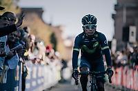 Nairo Quintana (COL/Movistar) on his way to sign-on<br /> <br /> Il Lombardia 2017<br /> Bergamo to Como (ITA) 247km