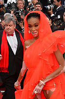 "CANNES, FRANCE. May 21, 2019: Winnie Harlow  at the gala premiere for ""Once Upon a Time in Hollywood"" at the Festival de Cannes.<br /> Picture: Paul Smith / Featureflash"