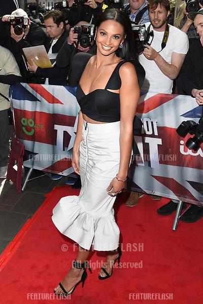 Alesha Dixon arriving at the launch of Britain's Got Talent 2017, Mayfair Hotel, London.   <br /> 12 April  2017<br /> Picture: Steve Vas/Featureflash/SilverHub 0208 004 5359 sales@silverhubmedia.com
