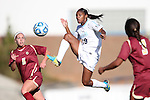 03 November 2013: North Carolina's Crystal Dunn (19) is tracked by Boston College's Lauren Bernard (5) and Casey Morrison (3). The University of North Carolina Tar Heels hosted the Boston College Eagles at Fetzer Field in Chapel Hill, NC in a 2013 NCAA Division I Women's Soccer match and the quarterfinals of the Atlantic Coast Conference tournament. North Carolina won the game 1-0.