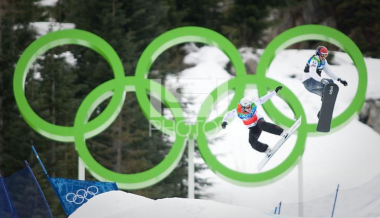 Vancouver, British Columbia, Canada--Men's Snowboard Cross, Cypress Mountain, Vancouver, Canada.