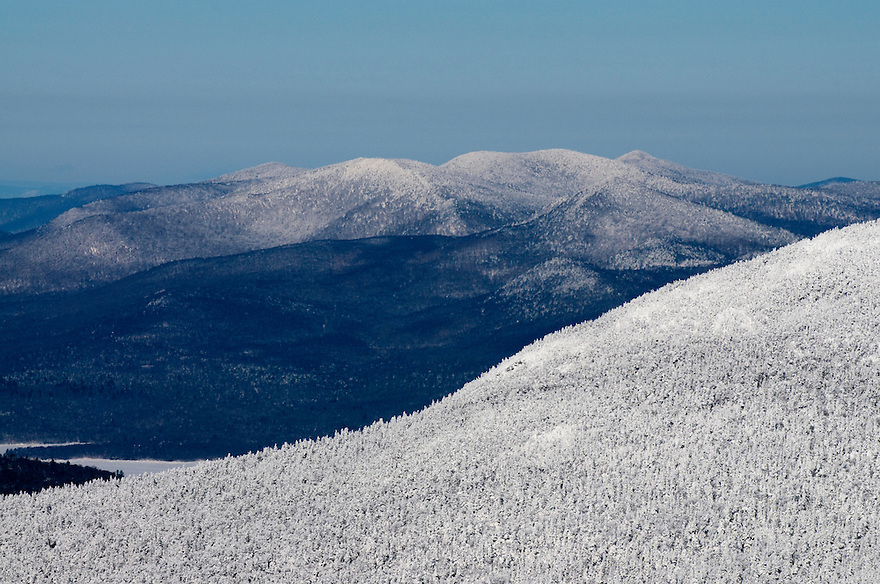 Pico Mountain looking north into the Green Mountains, Vermont.