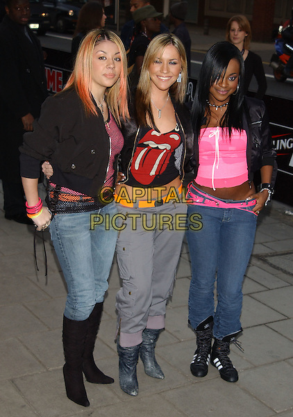 SUGABABES.arrivals at the NME Awards.at PoNaNa, Hammersmith.denim jeans, cropped trousers, adidas boots, rolling stones tshirt.www.capitalpictures.com.sales@capitalpictures.com.© Capital Pictures.