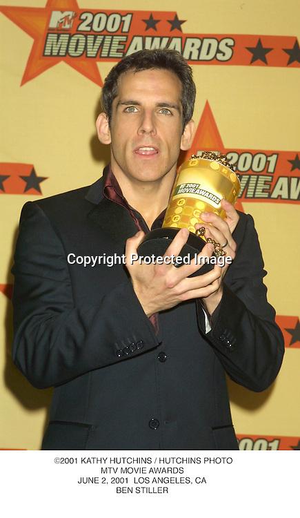 ©2001 KATHY HUTCHINS / HUTCHINS PHOTO.MTV MOVIE AWARDS.JUNE 2, 2001  LOS ANGELES, CA.BEN STILLER
