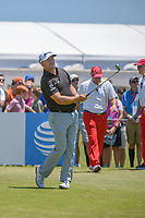 Graeme McDowell (NIR) watches his tee shot on 2 during round 1 of the AT&T Byron Nelson, Trinity Forest Golf Club, at Dallas, Texas, USA. 5/17/2018.<br /> Picture: Golffile | Ken Murray<br /> <br /> <br /> All photo usage must carry mandatory copyright credit (© Golffile | Ken Murray)