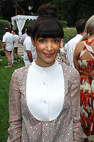 Hannah Simone==<br /> LAXART 5th Annual Garden Party Presented by Tory Burch==<br /> Private Residence, Beverly Hills, CA==<br /> August 3, 2014==<br /> ©LAXART==<br /> Photo: DAVID CROTTY/Laxart.com==
