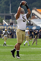 Notre Dame linebacker Manti Te'o. The Notre Dame Fighting Irish defeated the Pitt Panthers 15-12 at Heinz field in Pittsburgh, Pennsylvania on September 24, 2011.