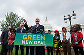 United States Senator Chris Van Hollen (Democrat of Maryland) was joined by several Democratic Senators and youth climate activists during a press conference on climate change outside the U.S. Capitol in Washington D.C., U.S. on September 17, 2019.<br /> <br /> Credit: Stefani Reynolds / CNP