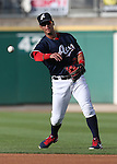 Reno Aces' Ronny Cedeno makes a play against the Omaha Storm Chasers, in Reno, Nev., on Sunday, Aug. 24, 2014.<br /> Photo by Cathleen Allison