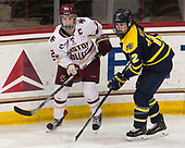 Andie Anastos (BC - 23), Emily Volpe (Merrimack - 12) - The number one seeded Boston College Eagles defeated the eight seeded Merrimack College Warriors 1-0 to sweep their Hockey East quarterfinal series on Friday, February 24, 2017, at Kelley Rink in Conte Forum in Chestnut Hill, Massachusetts.The number one seeded Boston College Eagles defeated the eight seeded Merrimack College Warriors 1-0 to sweep their Hockey East quarterfinal series on Friday, February 24, 2017, at Kelley Rink in Conte Forum in Chestnut Hill, Massachusetts.