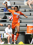 Florida's Bianca Gibbs on Sunday September 17th, 2006 at Koskinen Stadium on the campus of the Duke University in Durham, North Carolina. The University of North Carolina Tarheels defeated the University of Florida Gators 1-0 in an NCAA Division I Women's Soccer game.