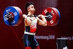 Mitsunori Konnai (JPN), <br /> AUGUST 22, 2018 - Weightlifting : <br /> Men's 69kg <br /> at JIExpo Kemayoran Hall A <br /> during the 2018 Jakarta Palembang Asian Games <br /> in Jakarta, Indonesia. <br /> (Photo by Naoki Morita/AFLO SPORT)