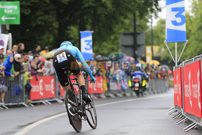 Andrey Grivko (UKR) Astana in action during Stage 1, a 14km individual time trial around Dusseldorf, of the 104th edition of the Tour de France 2017, Dusseldorf, Germany. 1st July 2017.<br /> Picture: Eoin Clarke | Cyclefile<br /> <br /> <br /> All photos usage must carry mandatory copyright credit (&copy; Cyclefile | Eoin Clarke)