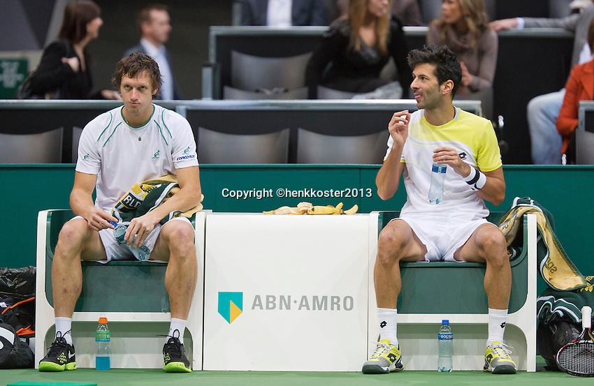 14-02-13, Tennis, Rotterdam,   Julian Knowle  Filip Polasek(L)