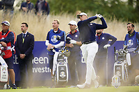 Jordan Spieth (Team USA) on the 6th during the friday fourballs at the Ryder Cup, Le Golf National, Iles-de-France, France. 27/09/2018.<br /> Picture Fran Caffrey / Golffile.ie<br /> <br /> All photo usage must carry mandatory copyright credit (© Golffile | Fran Caffrey)