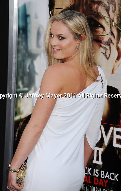 "HOLLYWOOD, CA - MAY 19: Lindsey Vonn arrives at the Los Angeles premiere of ""The Hangover Part II"" at Grauman's Chinese Theatre on May 19, 2011 in Hollywood, California."