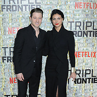"03 March 2019 - New York, New York - Ben McKenzie and Morena Baccarin. The World Premiere of ""Triple Frontier"" at Jazz at Lincoln Center. Photo Credit: LJ Fotos/AdMedia"