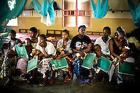 Five out of these seven children in the Medicins Sans Frontieres (MSF) Gondama Hospital have malaria. Practically half the patients in this hospital - almost all of them children under five years old - are being treated for malaria, which is by far the leading cause of mortality in Sierra Leone. Deaths linked with malaria accounted for 60 percent of mortality at Gondama Hospital in April 2008. It is not unusual for children with severe malaria to be diagnosed on arrival in hospital with poisoning from herbs prescribed by traditional healers