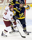 Ben Smith (BC - 12), Adam Ross (Merrimack - 26) - The Boston College Eagles defeated the Merrimack College Warriors 7-0 on Tuesday, February 23, 2010 at Conte Forum in Chestnut Hill, Massachusetts.